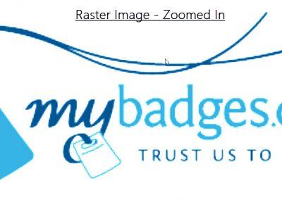 Raster Image Zoomed In