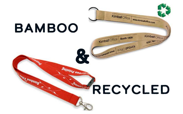 Product Spotlight: Recycled & Bamboo Lanyards