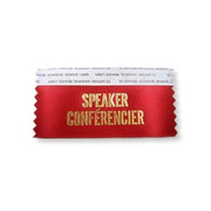 badge ribbon speaker