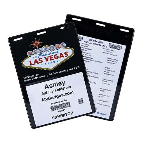 printed name badge holders