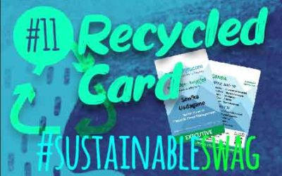 #11 Recycled Card, Recycled EcoBadge, Recycled Badge Inserts | Eco Friendly Conference #sustainableswag